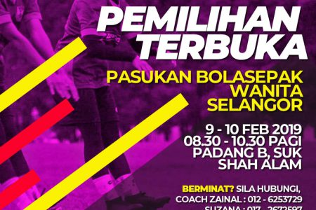 Talents Wanted for The Selangor Women's Football Team
